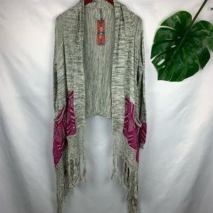 Selfie Couture Tribal Blanket No Closure Cardigan